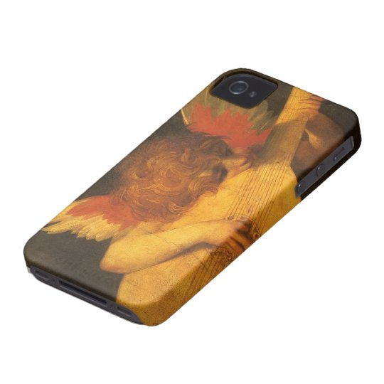 Vintage Art, Musician Angel by Rosso Fiorentino iPhone 4 Case