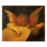 Vintage Art, Musician Angel by Rosso Fiorentino Poster