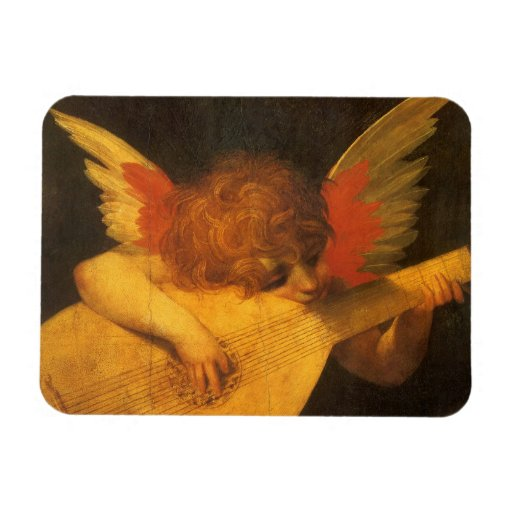 Vintage Art, Musician Angel by Rosso Fiorentino Rectangular Photo Magnet