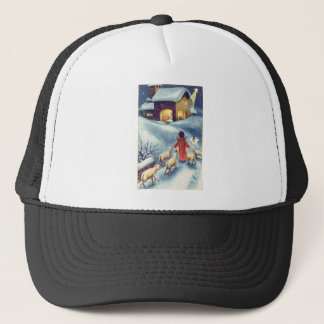 Vintage Art Nativity Trucker Hat