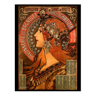 Vintage Art Nouveau Advertising Postcard