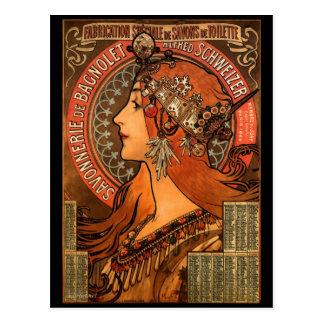 Vintage Art Nouveau Advertising Postcard