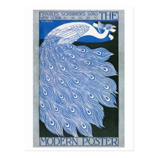 Vintage Art Nouveau Advertising Poster - Peacock Postcard