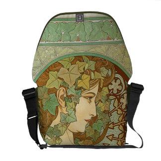 Vintage Art Nouveau   Alphonse Mucha Courier Bag