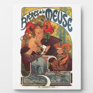 Vintage Art Nouveau Alphonse Mucha Plaque