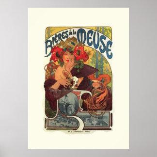 Vintage Art Nouveau Alphonse Mucha Poster