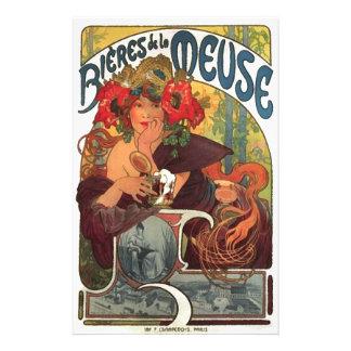 Vintage Art Nouveau Alphonse Mucha Stationery