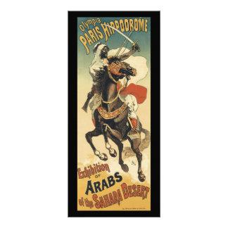 Vintage Art Nouveau, Arabs of the Sahara Desert Rack Card