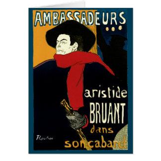 Vintage Art Nouveau Aristide Bruant Ambassadeurs Cards