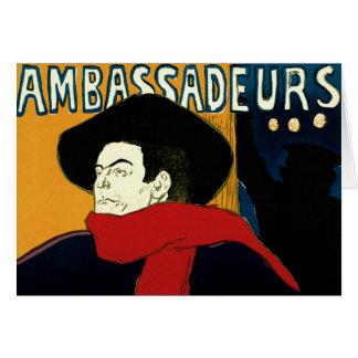 Vintage Art Nouveau Aristide Bruant Ambassadeurs Greeting Cards