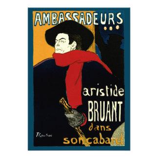 Vintage Art Nouveau Aristide Bruant Ambassadeurs Custom Announcements