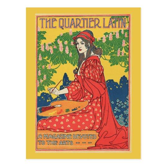 Vintage art nouveau arts magazine ad postcard