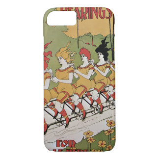 Vintage Art Nouveau, Bearings, Women on a Bicycle iPhone 7 Case