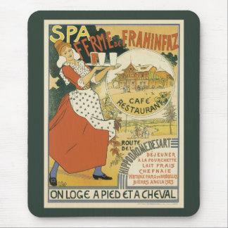 Vintage Art Nouveau, Beer Bar Cafe and Restaurant Mouse Pad