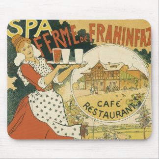 Vintage Art Nouveau, Beer Bar Restaurant and Cafe Mouse Pad