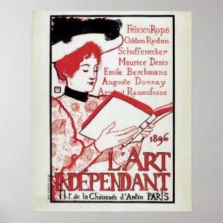 Vintage art nouveau Belgian art book presentation Posters