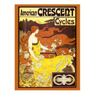 Vintage Art Nouveau Bicycle Ad Postcards
