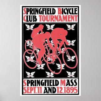 Vintage art Nouveau bicycle club Print