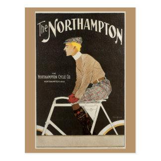 Vintage art Nouveau bicyle ad Post Card