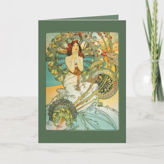 Vintage Art Nouveau Birthday Card Zazzle