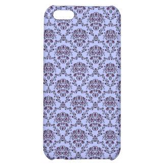 vintage Art Nouveau blue wallpaper floral pattern Case For iPhone 5C