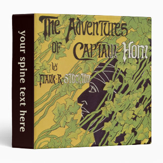 Vintage Art Nouveau Book, Captain Horn Adventures Binder