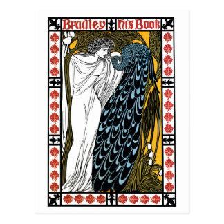 Vintage art Nouveau book cover, The Kiss Post Cards