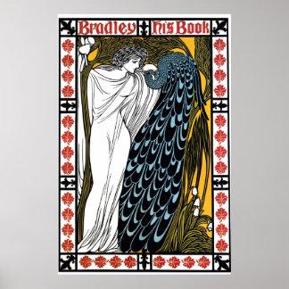 Vintage art Nouveau book cover, The Kiss Poster