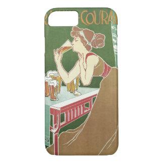 Vintage Art Nouveau Brasserie Fraikin-Courard Beer iPhone 8/7 Case