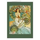 Vintage Art Nouveau Bridal Shower Invitation Greeting Card