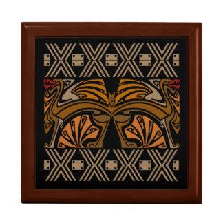 Vintage art nouveau brown dragons jewelry boxes