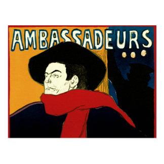 Vintage Art Nouveau by Henri de Toulouse Lautrec Postcard