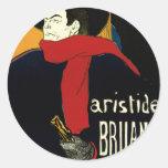 Vintage Art Nouveau by Henri de Toulouse Lautrec Classic Round Sticker