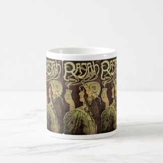 Vintage Art Nouveau Cafe Rajah, Woman Drinking Tea Coffee Mug