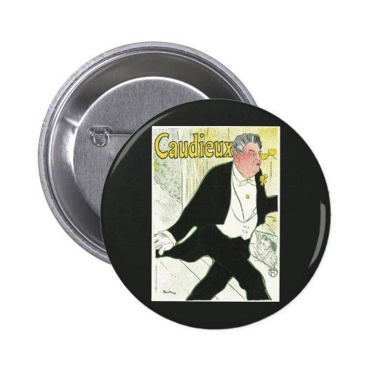 Vintage Art Nouveau, Caudieux by Toulouse Lautrec Pinback Button