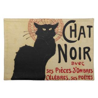 Vintage Art Nouveau, Ce Soir Chat Noir Black Cat Cloth Placemat