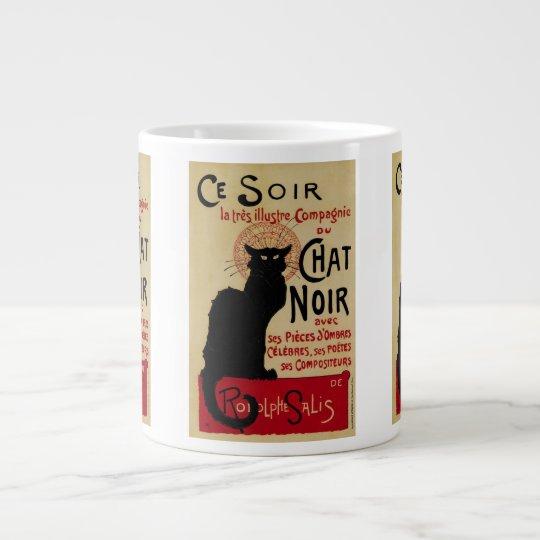Vintage Art Nouveau, Ce Soir Chat Noir Black Cat Giant Coffee Mug