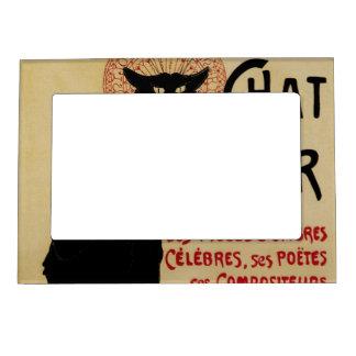 Vintage Art Nouveau, Ce Soir Chat Noir Black Cat Magnetic Frame