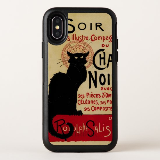 Vintage Art Nouveau, Ce Soir Chat Noir Black Cat OtterBox Symmetry iPhone X Case