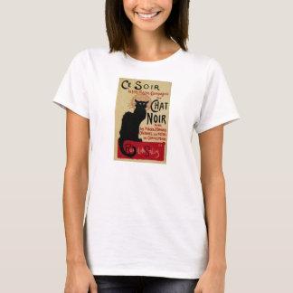 Vintage Art Nouveau, Ce Soir Chat Noir Black Cat T-Shirt