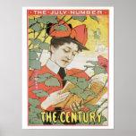 Vintage art nouveau Century magazine July Print