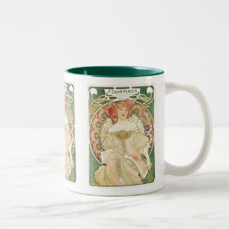 Vintage Art Nouveau, Champenois by Alphonse Mucha Coffee Mug