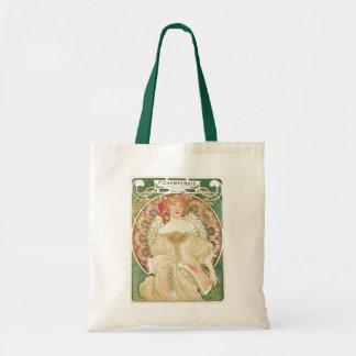 Vintage Art Nouveau, Champenois by Alphonse Mucha Tote Bag