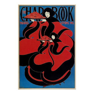 Vintage Art Nouveau Chap Book Thanksgiving Print