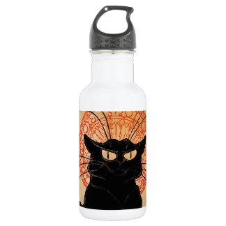 Vintage Art Nouveau Chat Noir Water Bottle