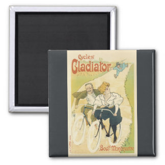 Vintage Art Nouveau Couple Bicycle Gladiator Cycle Refrigerator Magnets