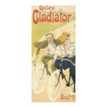 Vintage Art Nouveau Couple Bicycle Gladiator Cycle Full Color Rack Card