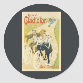 Vintage Art Nouveau Couple Bicycle Gladiator Cycle Stickers