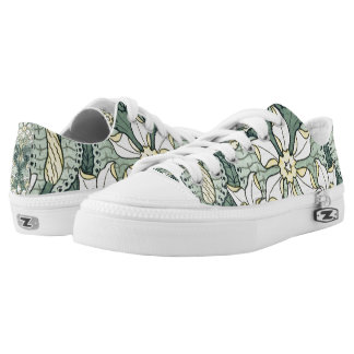 Vintage Art Nouveau Daffodil Narcissus Flowers Low-Top Sneakers