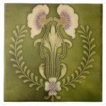 "Vintage Art Nouveau Deco Majolica Floral Craftsman Ceramic Tile<br><div class=""desc"">Vintage Art Nouveau Deco Majolica Floral Craftsman &quot;Arts and Crafts&quot; Style Vintage Reproduction Repro Art Deco Nouveau Midcentury &quot;Mid Century&quot; &quot;Mid-Century&quot; Modern Antique Bathroom Bath Counter Counters Backsplash &quot;Tub Surround&quot; &quot;Fireplace Surround&quot; Trivet ceramic ceramics tile tiles tuile tuiles porcelain stoneware earthenware terracotta Remodel Remodeling Redesign redo renovation construction DIY do-it-yourself...</div>"